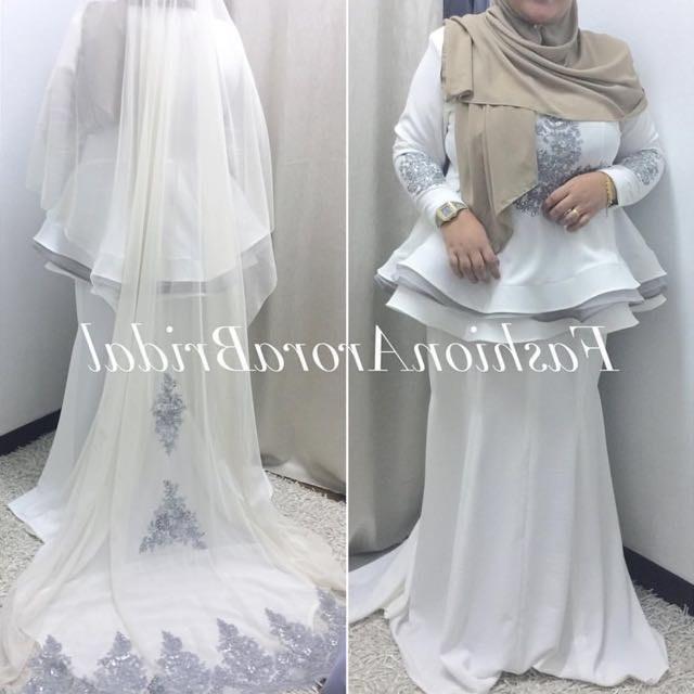 Ide Sewa Baju Pengantin Muslimah Syar'i Q0d4 Sewa Set Baju Pengantin Women S Fashion Bridal Wear On