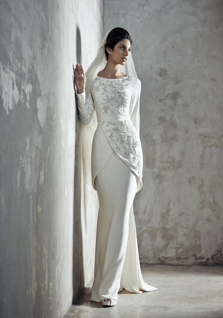 Ide Sewa Baju Pengantin Muslimah Syar'i S1du 001 Melinda Looi Ivory 2015 Baju Akad Nikah Modern Baju