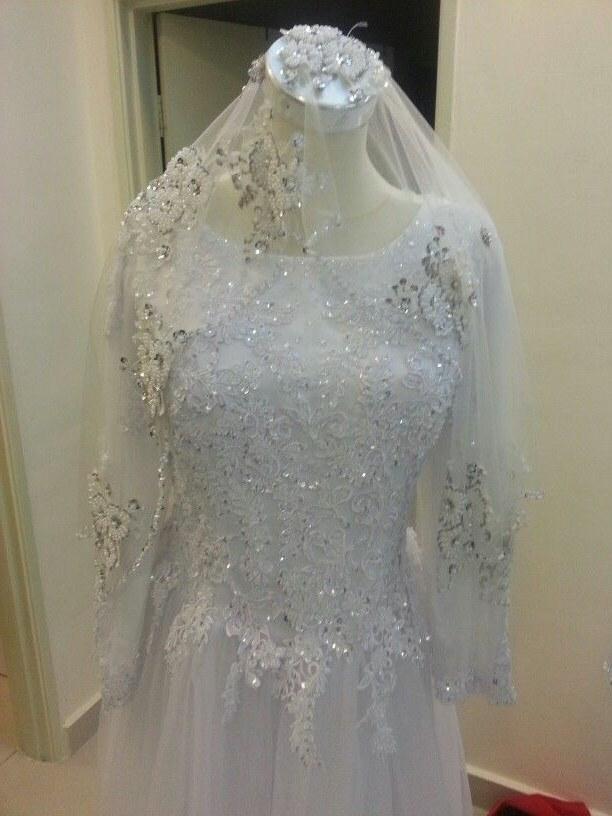 Ide Sewa Baju Pengantin Muslimah Syar'i Tqd3 Gown Pengantin Putih Baju Pengantin Sewa Pinterest