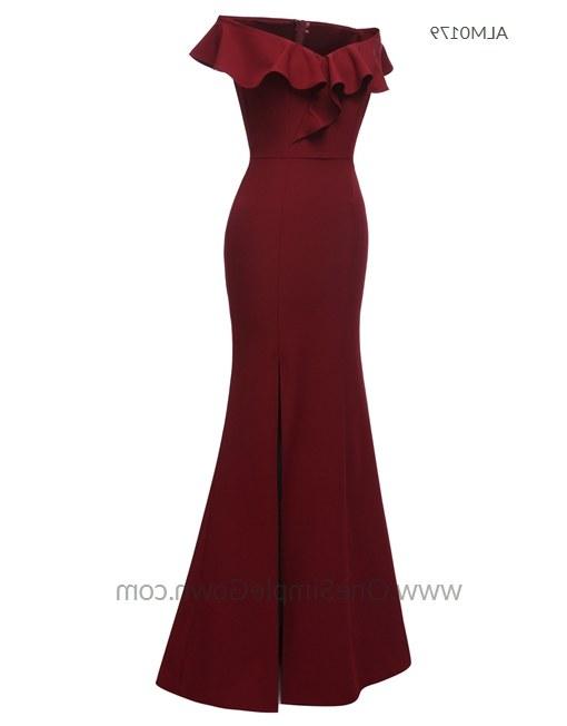Inspirasi Baju Gaun Pengantin Muslimah Thdr 3 Colors F Shoulder Draping evening Dress