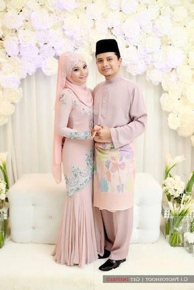 Inspirasi Baju Pasangan Pengantin Muslim Nkde 36 Baju Pengantin songket Mint Green Modis Dan Cantik