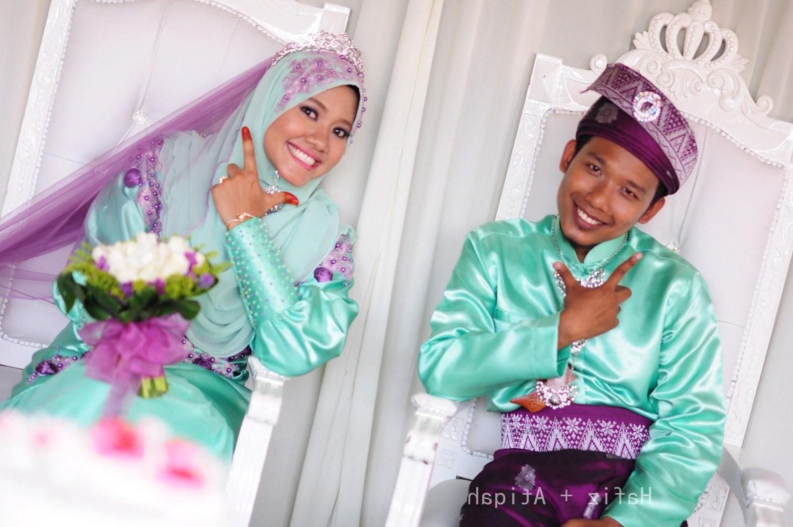 Inspirasi Baju Pasangan Pengantin Muslim Tqd3 36 Baju Pengantin songket Mint Green Modis Dan Cantik