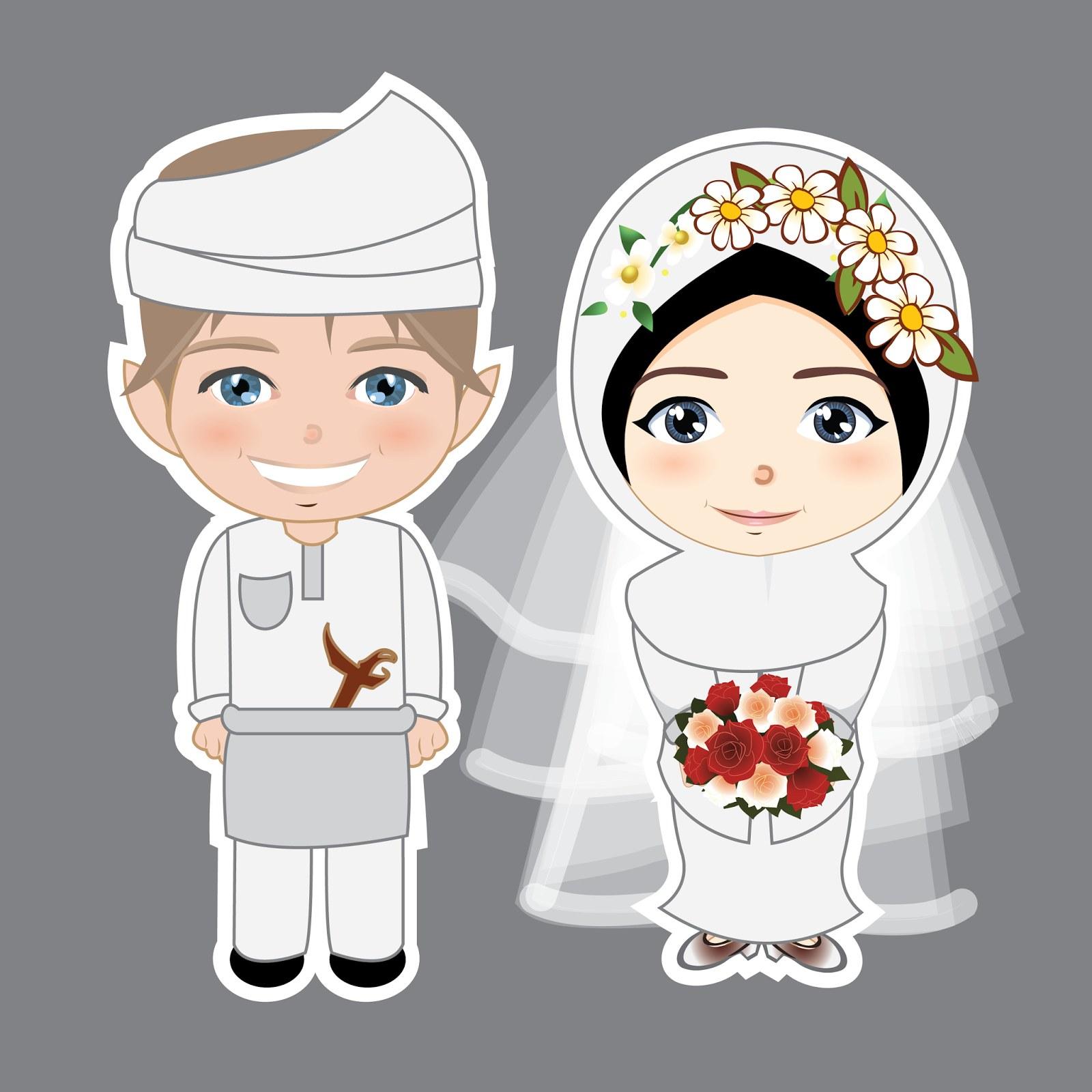 Inspirasi Baju Pengantin Muslim Syari Drdp Kumpulan Animasi Pengantin Muslim