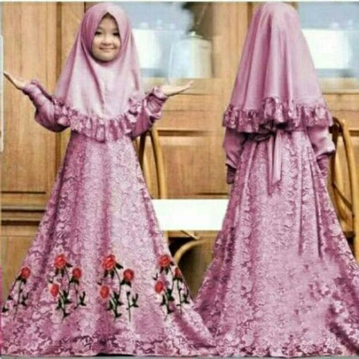 Inspirasi Baju Pengantin Muslim Syari S5d8 Jual Baju Muslim Syari Gamis Anak Herbie Kids Od Jersey Mix Brukat Fit Dki Jakarta Galleryzulaikha