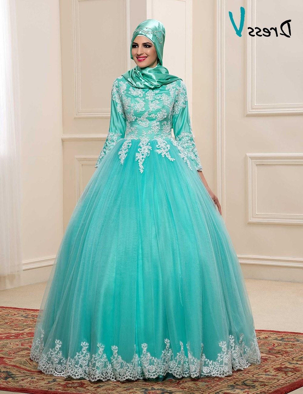 Inspirasi Baju Pengantin Muslimah Modern 2017 E9dx islamic Hijab Wedding Dresses – Fashion Dresses