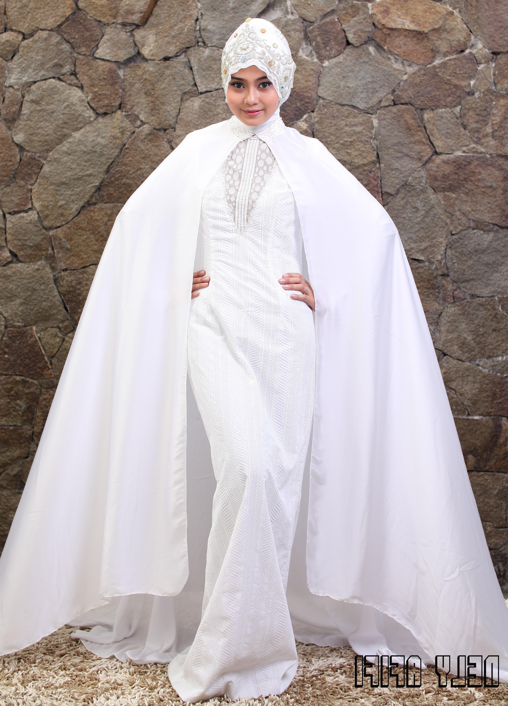 Inspirasi Busana Pengantin Berhijab Txdf Foto Pengantin Berhijab Elegan Gaun Pengantin Muslim Warna