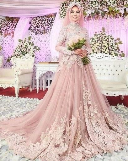 Inspirasi Busana Pengantin Muslimah Modern Gdd0 Model Gaun Pengantin Muslimah Modern Elegan Dan Indah