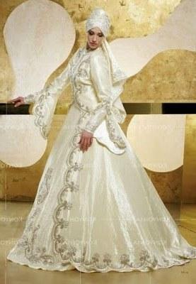 Inspirasi Busana Pengantin Muslimah Modern S1du Contoh Baju Pengantin Muslim Modern Ala Timur Tengah Di 2019
