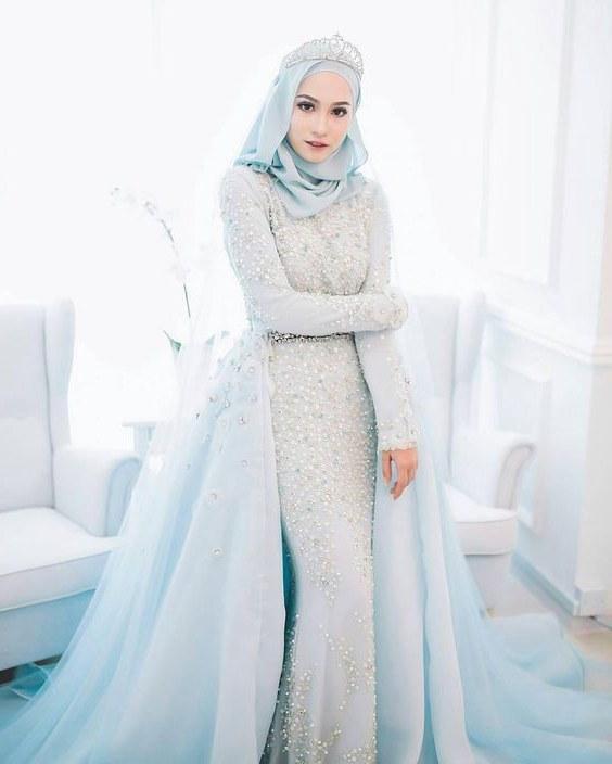 Inspirasi Busana Pengantin Muslimah Modern Wddj 25 Model Kebaya Pengantin Muslim Modern Terbaru 2018