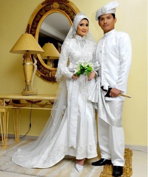 Inspirasi Busana Pengantin Muslimah Modern Xtd6 Baju Pengantin Muslim Modern Putih 3