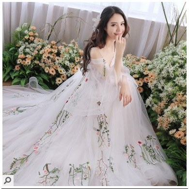 Inspirasi Gaun Pengantin Muslim India Wddj Mori Wedding Dress Summer Retro tour Dress Simple Bride Tail