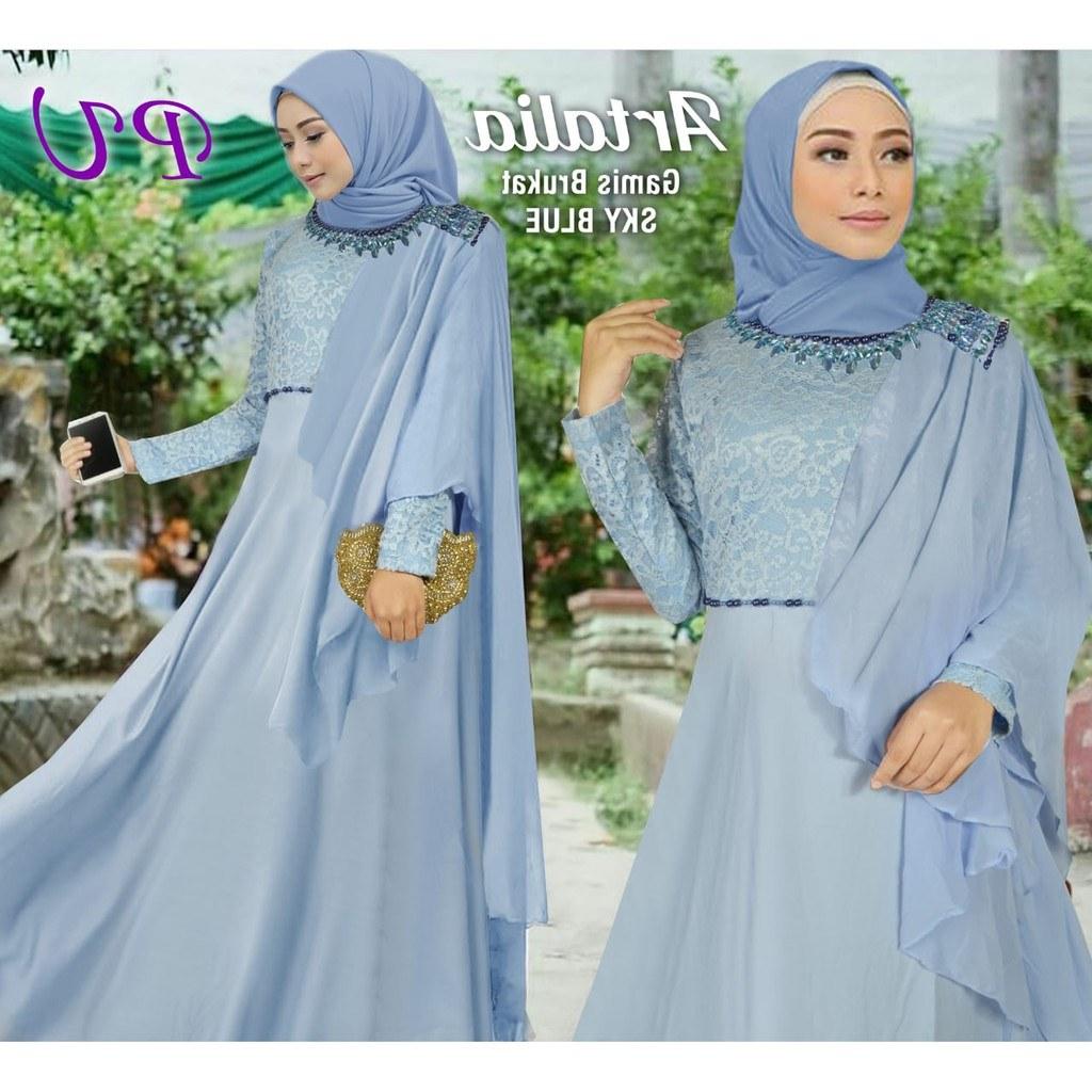 Inspirasi Gaun Pengantin Muslim Mewah Dan Elegan 0gdr Artalia Syari Pu Busana Muslim Murah Maxi Dress Kekinian Baju Muslimah Wanita Terbaru Grosir