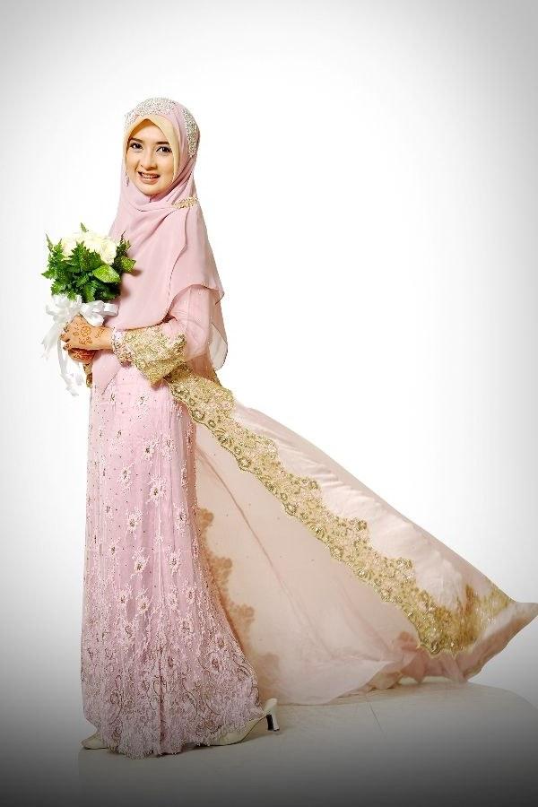 Inspirasi Gaun Pengantin Muslim Mewah Dan Elegan 9fdy 50 Info Kebaya Muslimah Syar I Free