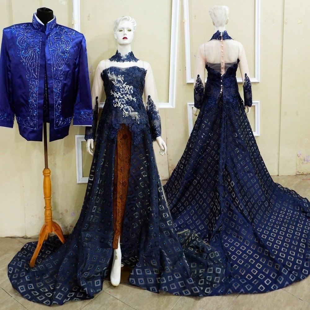 Inspirasi Gaun Pengantin Muslim Mewah Dan Elegan Budm 57 Contoh Baju Pengantin Navy Paling Keren Modelbaju