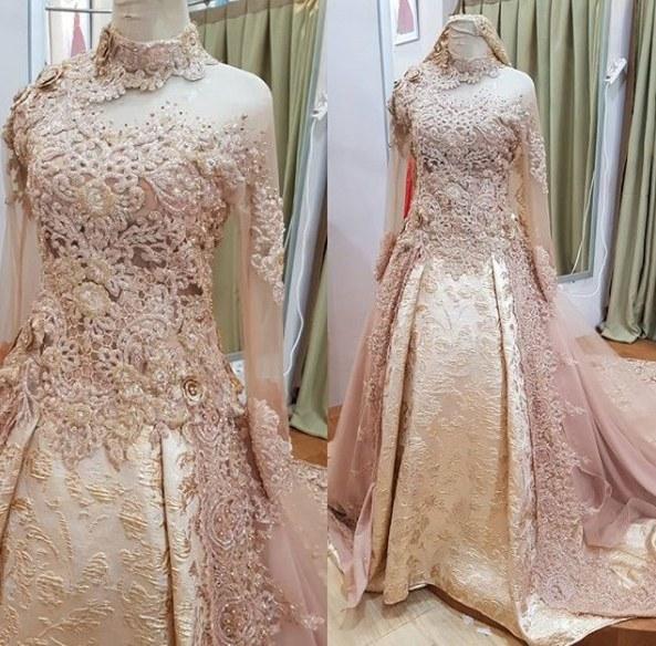 Inspirasi Gaun Pengantin Muslim Mewah Dan Elegan Ipdd Model Kebaya Akad Nikah Modern Model Kebaya Terbaru 2019