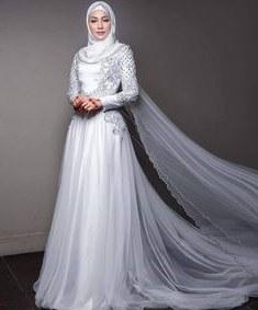 Inspirasi Gaun Pengantin Muslim Mewah Dan Elegan S1du 144 Best Baju Nikah Putih Images In 2019
