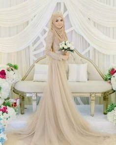 Inspirasi Gaun Pengantin Muslim Sederhana Fmdf 1921 Gambar Shabby Chic theme Wedding Terbaik Di 2019