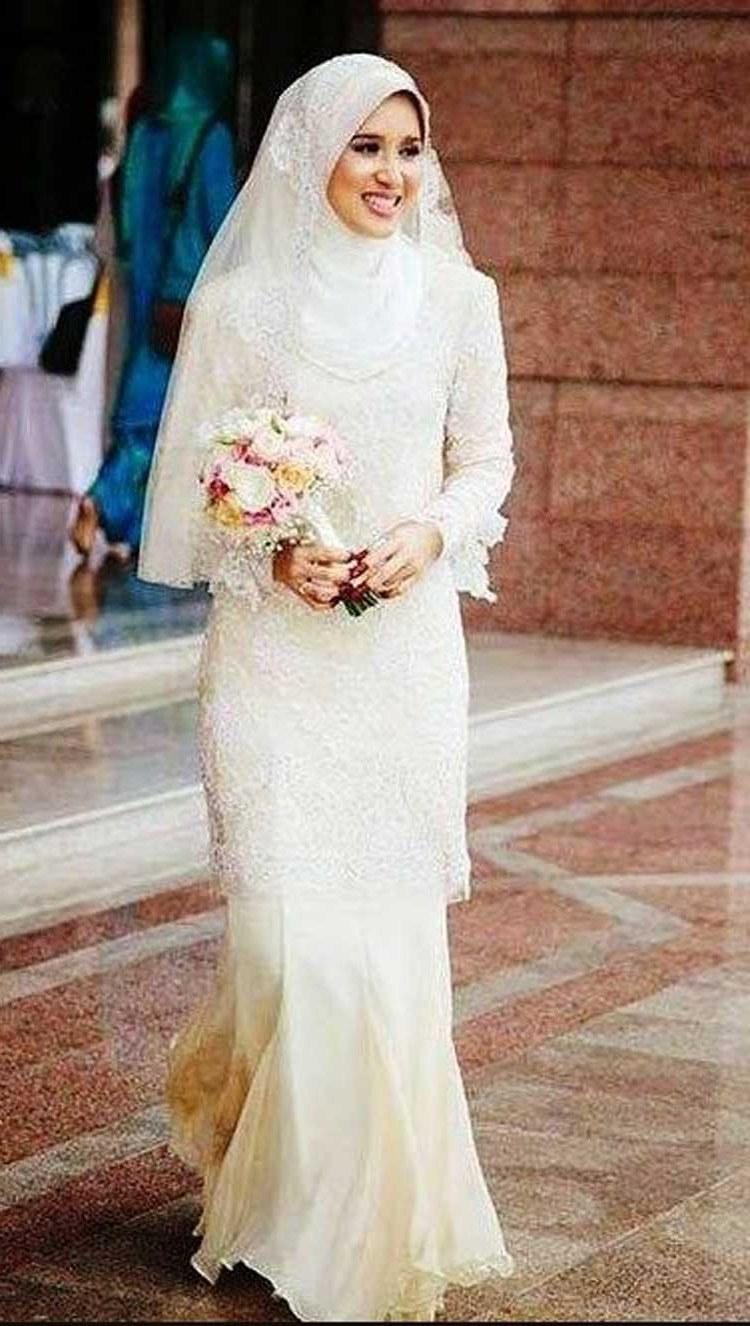 Inspirasi Gaun Pengantin Muslim Sederhana Q5df Model Kebaya Akad Nikah Modern Model Kebaya Terbaru 2019