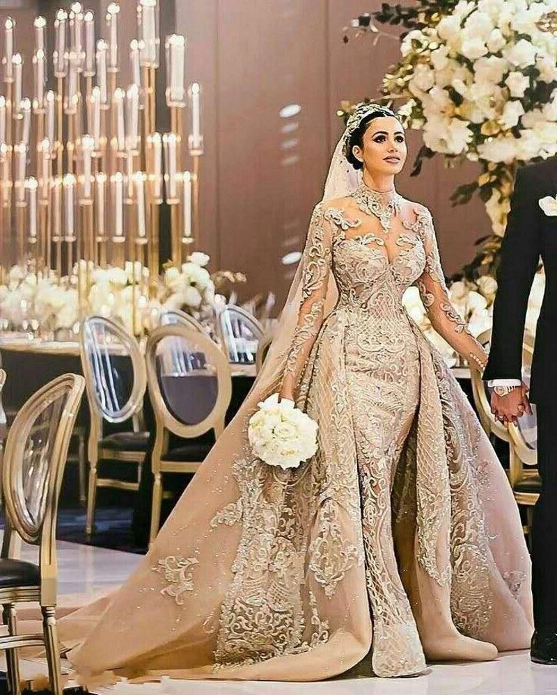 Inspirasi Gaun Pernikahan Muslimah E9dx 2019 Terbaru Muslim Pernikahan Gaun Dengan Emas Bordiran