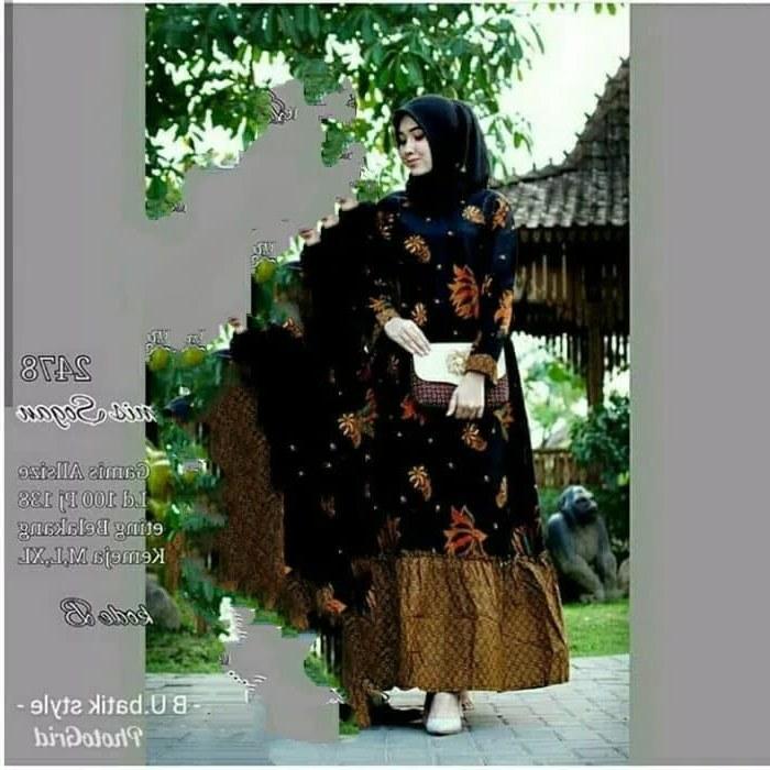 Inspirasi Gaun Pernikahan Muslimah Wddj Jual Baju Gamis Batik Gamis Sayur Pakaian Baju Batik Muslimah 05 Kota Pekalongan Siti Batik