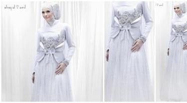 Inspirasi Gaun Pesta Pengantin Muslimah E6d5 6 Gaun Pengantin Muslimah Elegan Beauty Fimela