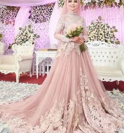Inspirasi Gaun Pesta Pengantin Muslimah H9d9 10 Model Gaun Pengantin Muslim No 7 Paling Unik
