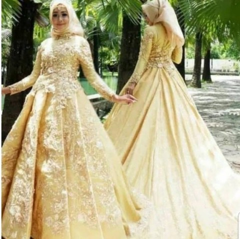 Inspirasi Gaun Pesta Pengantin Muslimah Tqd3 Terjual Jual Gaun Pengantin Muslimah Gaun Pengantin Hijab Kebaya