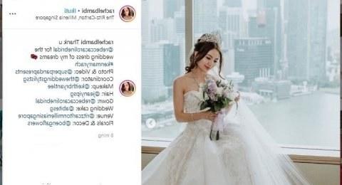Inspirasi Gaun Resepsi Pernikahan Muslimah Rldj Rachel Wee Crazy Rich Singapura Ini Menikah Dengan Gaun
