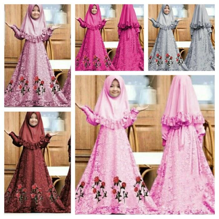 Inspirasi Harga Baju Pengantin Muslimah Qwdq Jual Baju Muslim Gamis Anak Herbie Kids Od Jersey Mix Brukat Fit 4 6thn Fuchsia Dki Jakarta Megumi Store
