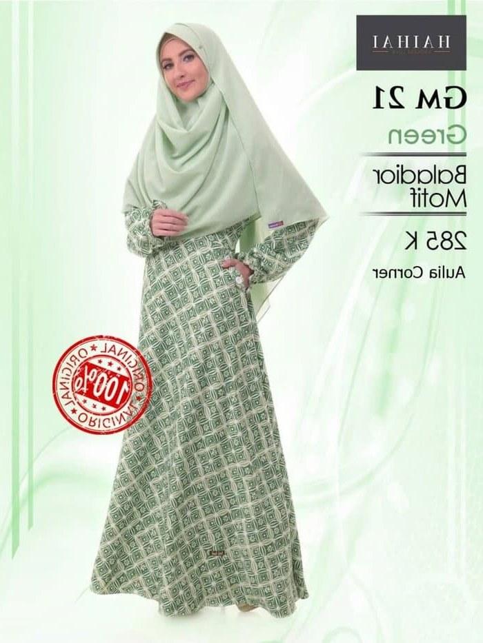 Inspirasi Model Baju Pengantin Muslim Terbaru Tldn Jual Baru Model Baju Muslim Terbaru Haihai Gm 21 Hijau original Kab Mojokerto Mama Store1