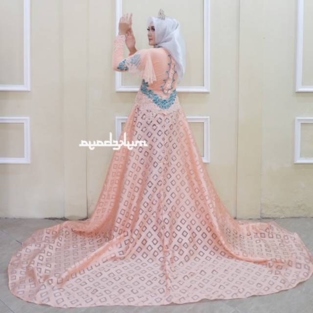 Model Baju Pengantin Muslim Adat Jawa Mndw Kebaya Couple Ekor Mata Dewa Baju Pengantin Free Rok Selop 2 Pasang