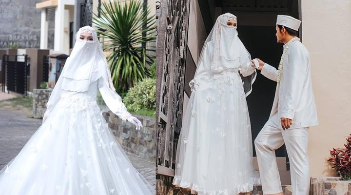 Model Baju Pengantin Muslim Elegan J7do top Info Gaun Pengantin Niqab Baju Pengantin