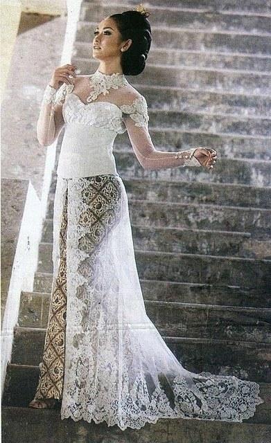 Model Baju Pengantin Muslim Elegan O2d5 Kebaya Simple Design and Color Kebaya