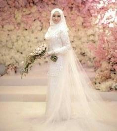 Model Baju Pengantin Muslim Elegan Wddj 23 Best Veil Nikah Cantik Images In 2019