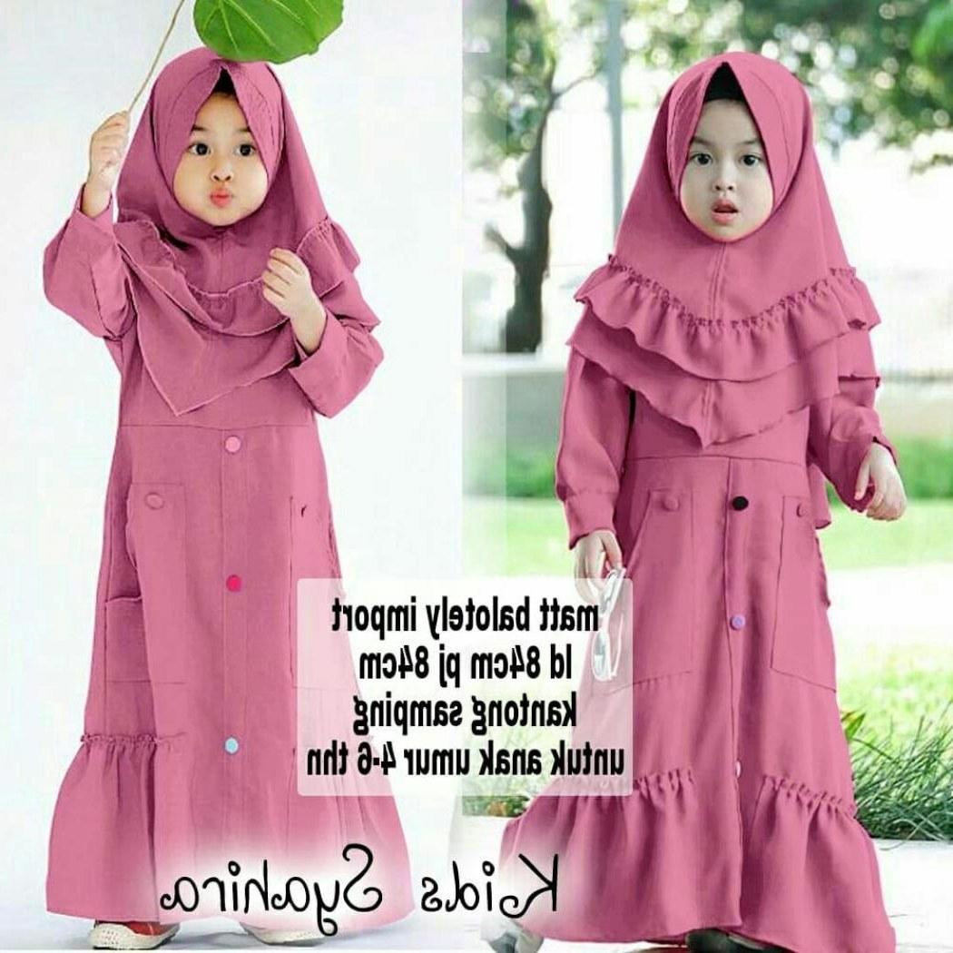 Model Baju Pengantin Muslim Syari Txdf Jual Beli Baju Muslim Syari Gamis Anak Herbie Kids Od Jersey