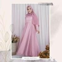 Model Baju Pengantin Muslimah Dian Pelangi 87dx Jual Maxi organza Murah Harga Terbaru 2019