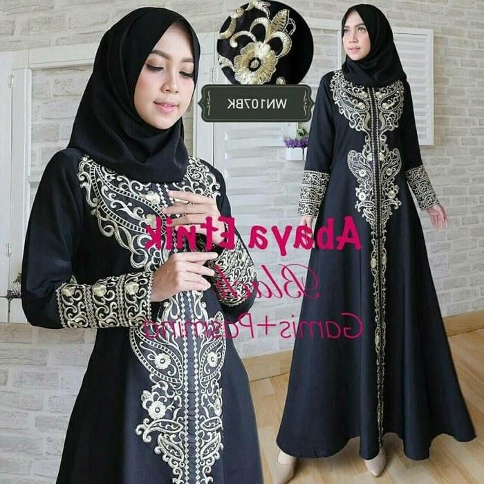 Model Baju Pengantin Muslimah Dian Pelangi E6d5 Abaya Gamis Jubah Dress Bordir Etnik Putih