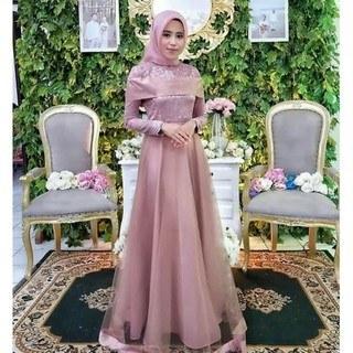 Model Baju Pengantin Muslimah Dian Pelangi E9dx Sabrina Maxi Gamis Jumbo Moscrepe Hitam Xxl