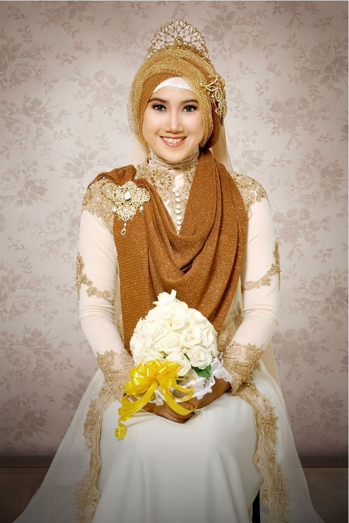 Model Baju Pengantin Muslimah Syar'i Irdz Gambar Desain Baju Pengantin Muslimah Yang Anggun