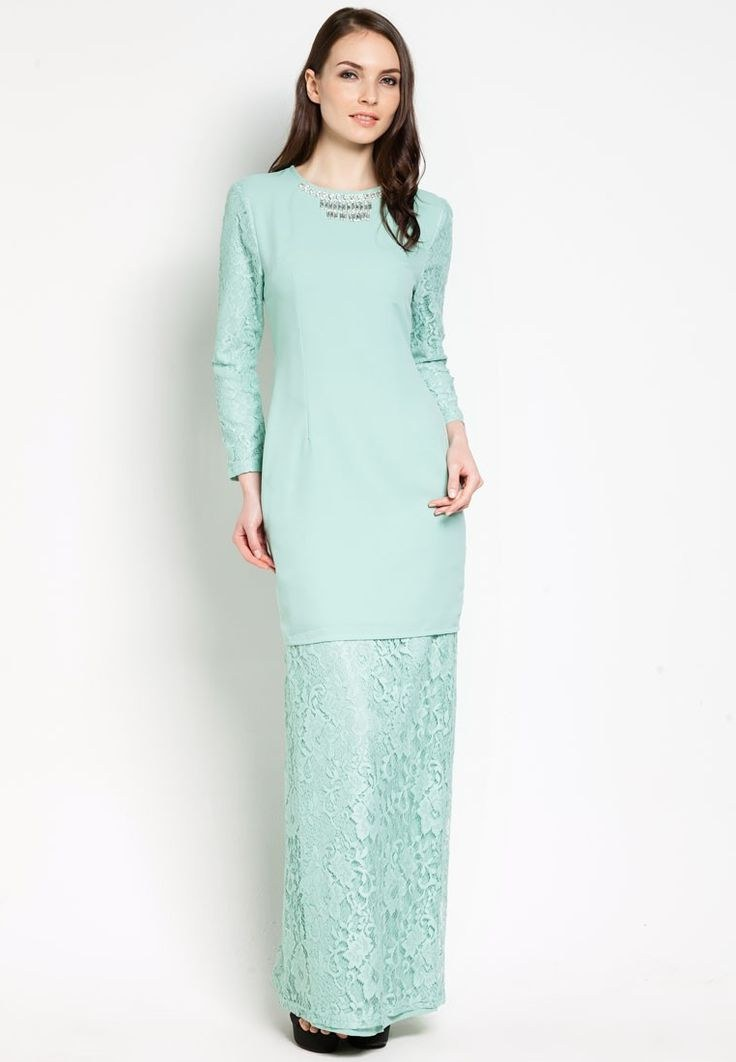 Model Baju Pengantin Muslimah Syar'i Kebaya 3ldq Tunang Vercato Keira Lace Kurung