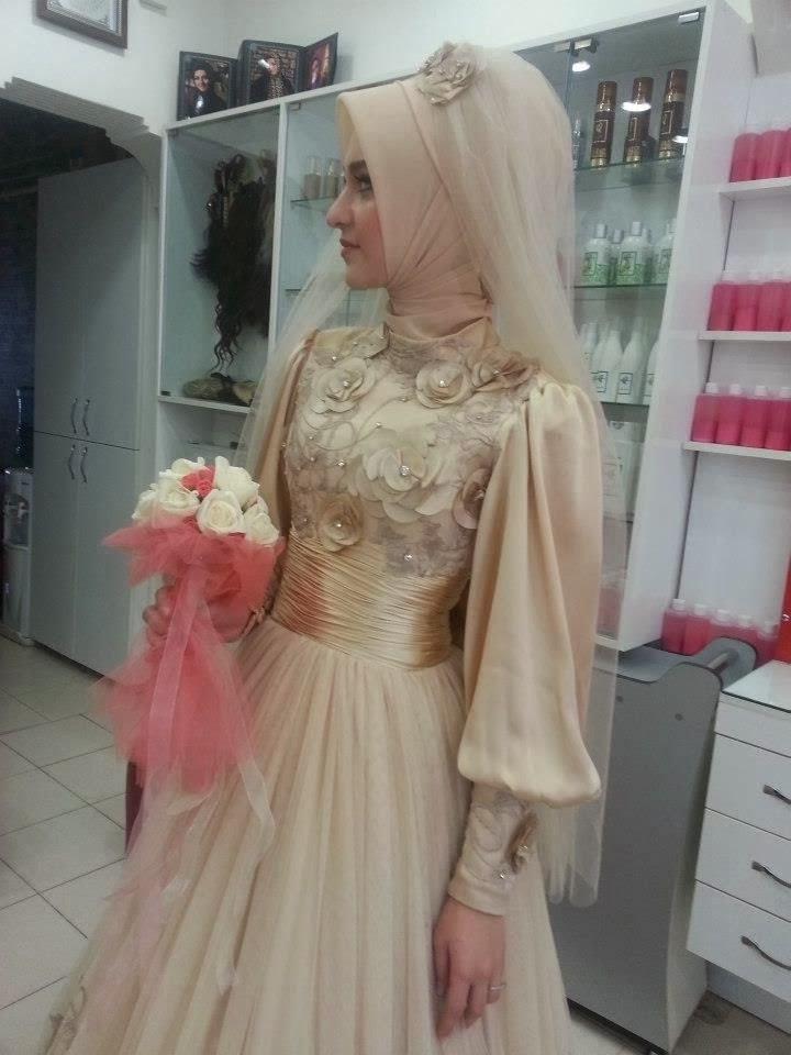 Model Baju Pengantin Muslimah Syar'i Kebaya 9fdy Gaun Pengantin 2014 Baju Muslimah Cakepins