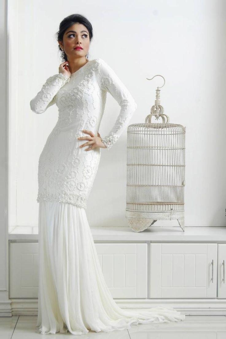 Model Baju Pengantin Muslimah Syar'i Kebaya Ipdd solemnisation Dress Baju Kurung Moden