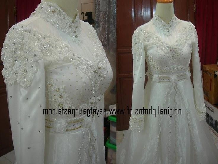 Model Baju Pengantin Muslimah Syar'i Kebaya O2d5 Payet Gaun Pesta Pengantin Muslim Eropa Broken White