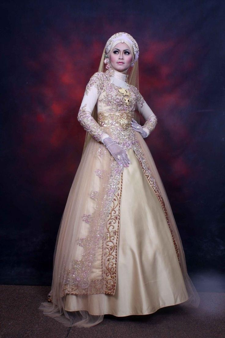 Model Baju Pengantin Muslimah Syar'i Y7du Gaun Pengantin Wanita Muslimah