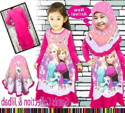 Model Baju Pengiring Pengantin Muslimah D0dg Pola Baju Elsa Frozen