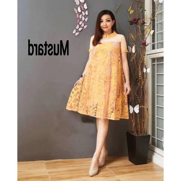 Model Baju Pengiring Pengantin Muslimah Gdd0 Dress Wanita Brukat Erlin Dress Murah Pakaian Wanita Kekinian