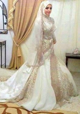 Model Busana Pengantin Syari Bqdd Baju Pengantin islami Modern Nusagates