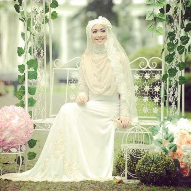 Model Busana Pengantin Syari Q5df Contoh Desain Baju Pengantin Muslimah Desain Pernikahan