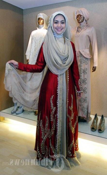 Model Busana Pengantin Syari Qwdq Model Baju Syari Oki Setiana Dewi