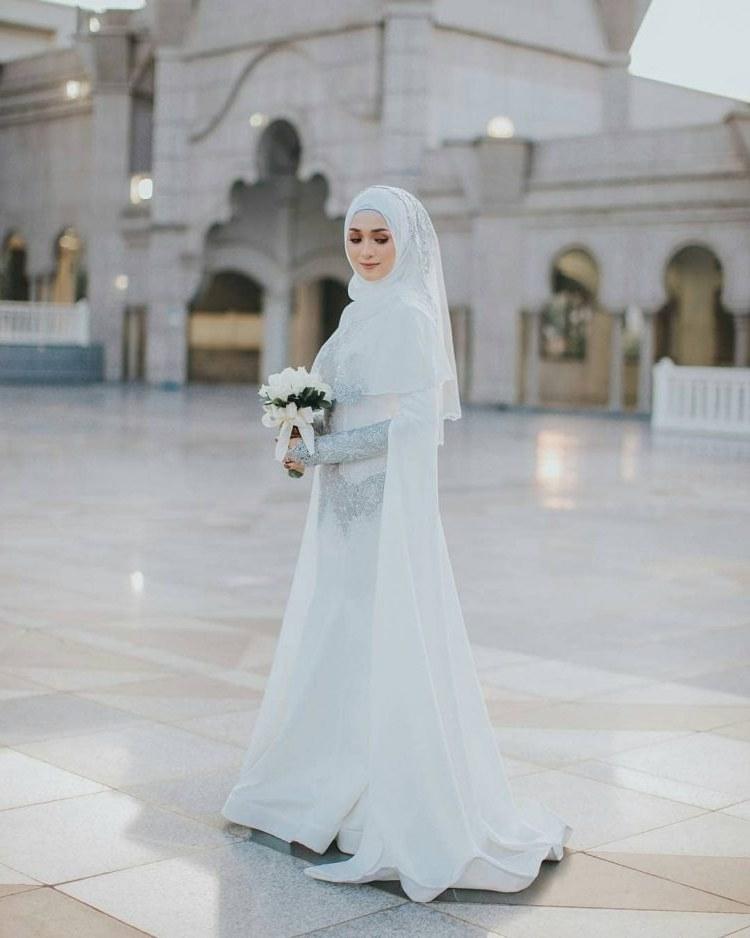 Model Busana Pengantin Syari Zwd9 44 Gaun Pernikahan Wanita Muslim Baru